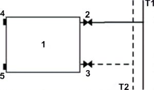 Схема подключения радиатора для двухтрубной системы