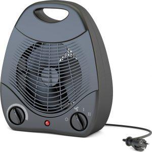 Черный напольный тепловентилятор